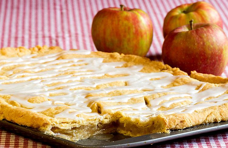 Apfelkuchen Als Blechkuchen Rezept Statt Springform Auf Dem Blech